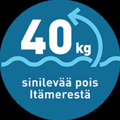 Aineeton lahja: 40 kg sinilevää pois Itämerestä